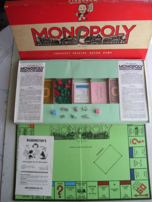 Vintage Monopoly Game by Waddingtons 1950s Edition