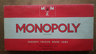 Vintage Monopoly Game by Waddingtons 1970s