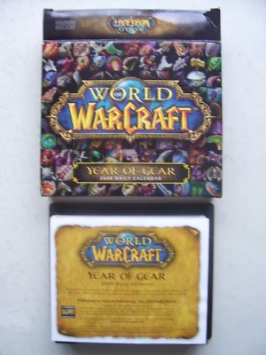 World of Warcraft Trivia Calendar  2008