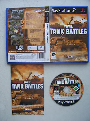 WW 2 Tank Battles PS2 Game